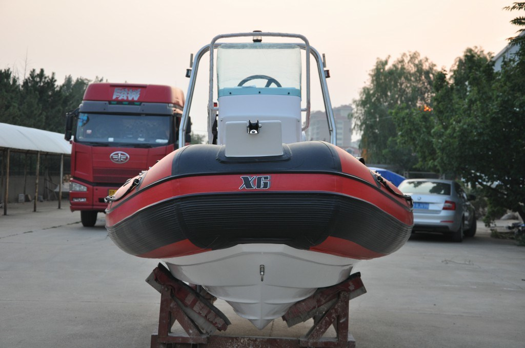 Rib Fiberglass Hull PVC Inflotable Boat