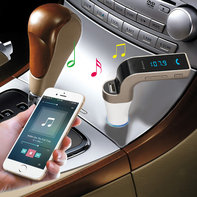 USB Car Charging TF Card MP3 Bluetooth Handsfree FM Transmitter Car Charger