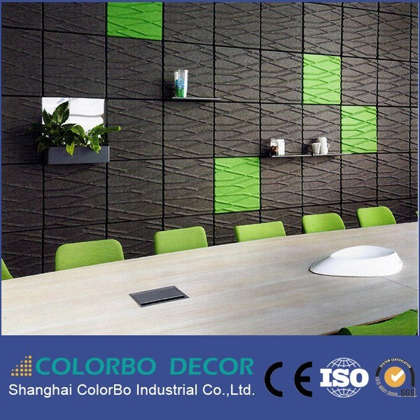 3D Background Wall Polyester Fiber Acoustic Panel