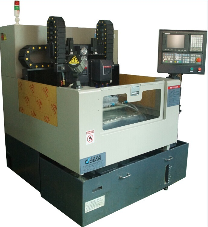 High Precision Mobile Phone Glass Cover Double Spindle Engraving CNC Machine (RCG500D)