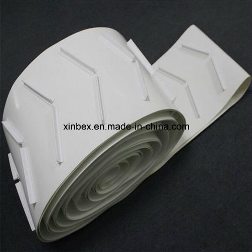 PVC White Food Grade Herringbone Cleats Bar Inclined Conveyor Belt