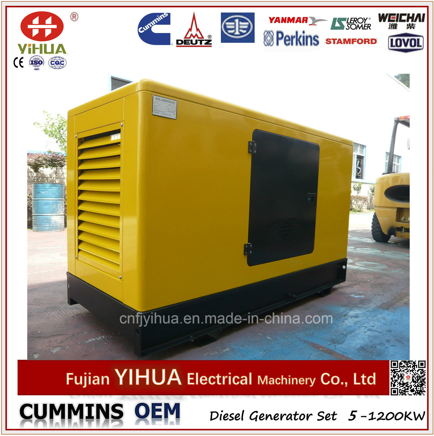 China 20kw 25kVA Weatherproof Silent Canopy Diesel Generator with