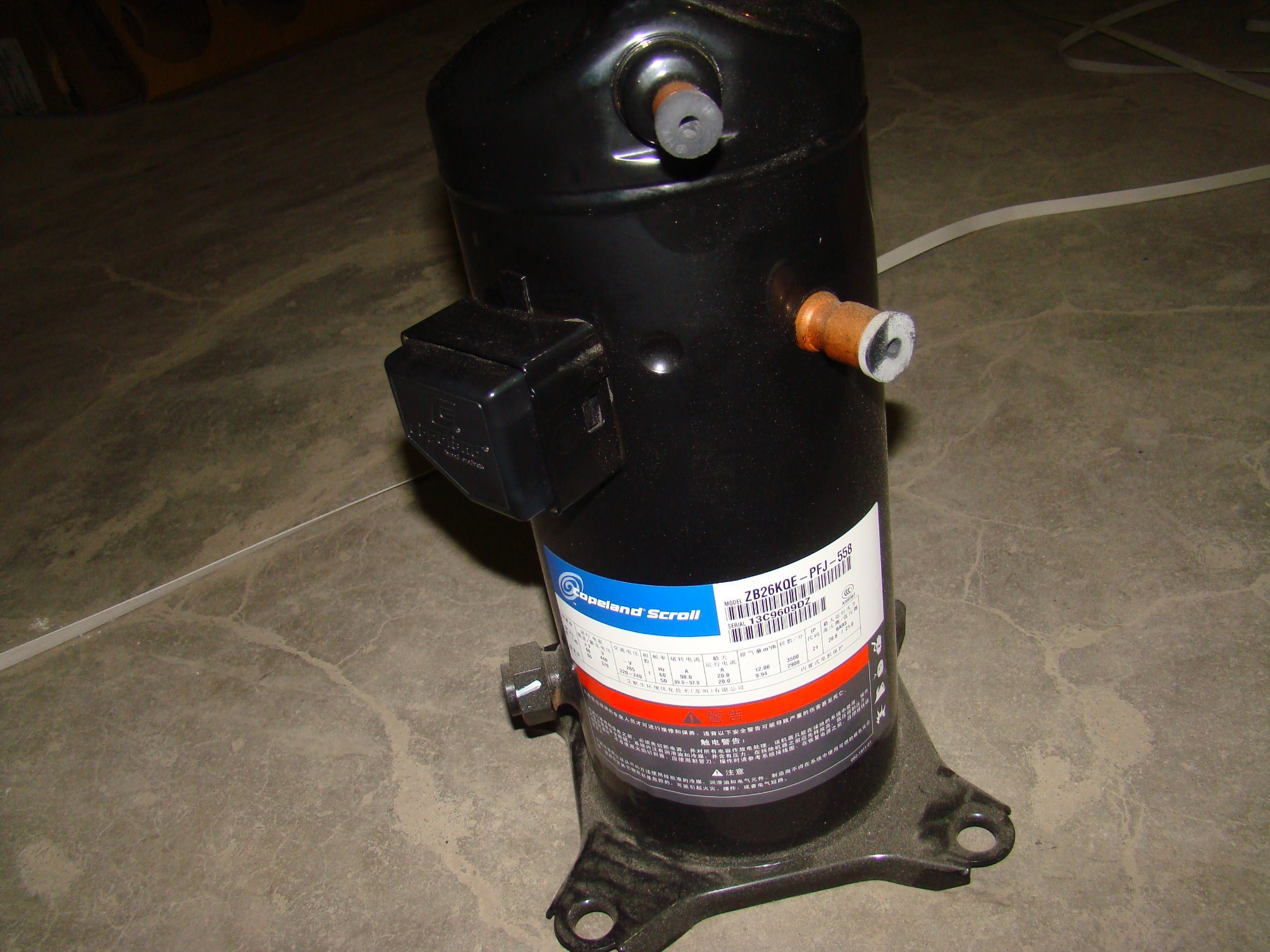 380V Copeland Refrigeration Scroll Hermetic Compressor (ZB26KQE-TFD-558)