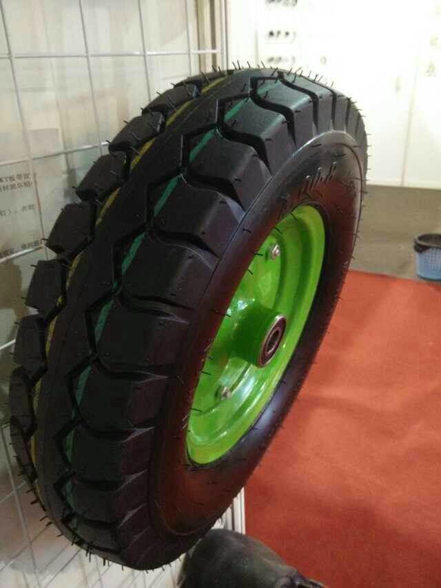 Trolley Wheel Pneumatic Tire Air Rubber Wheel 400-8