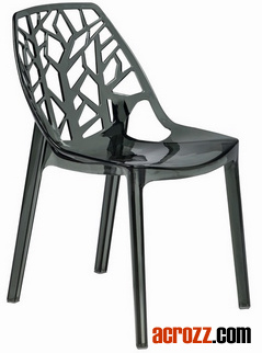 Clear Acrylic Outdoor Garden Patio Stackable Forest Dining Chair