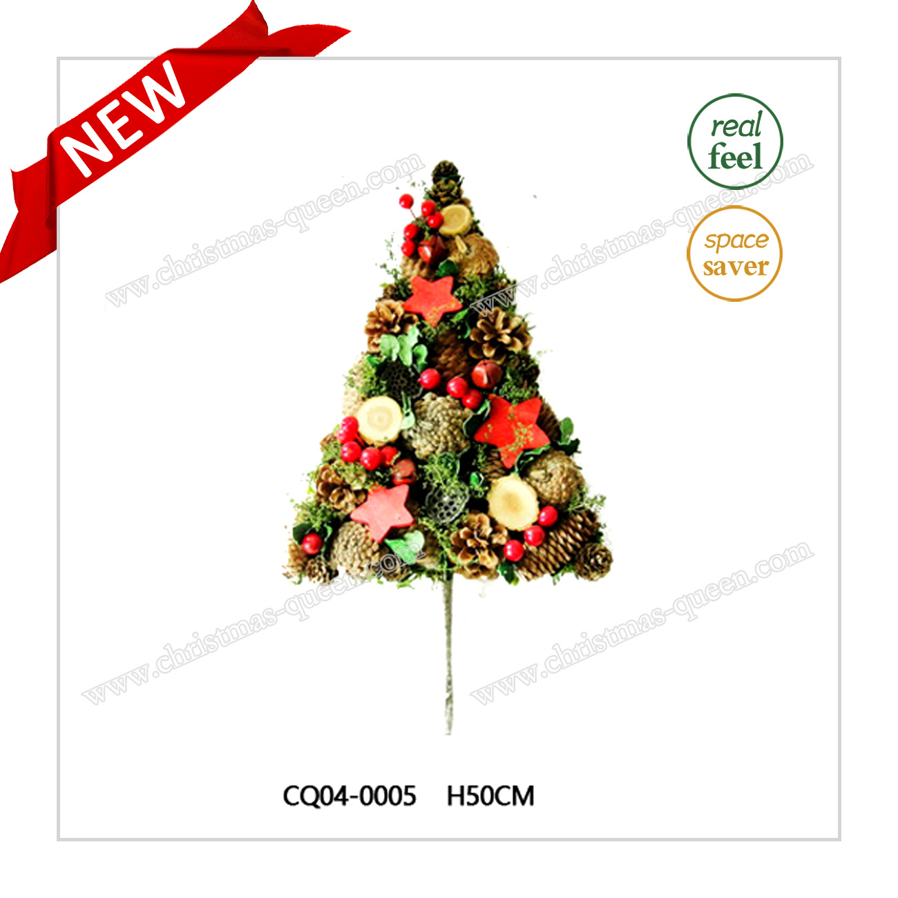 H35cm Pine Cone Christmas Wreath for Christmas and Plastic Home Decoration
