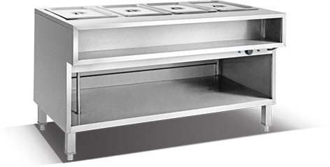 3 Pan Bain Marie and Work Table (HBA-3)