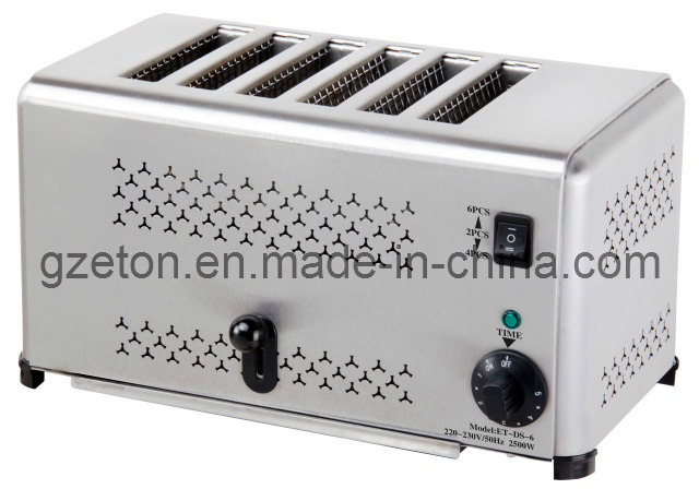 CE Approved Hot Sales Commerical Toaster with 6slicers