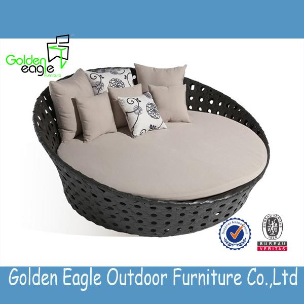Round Sun Bed Round Sofa Rattan/Wicker Sunbed