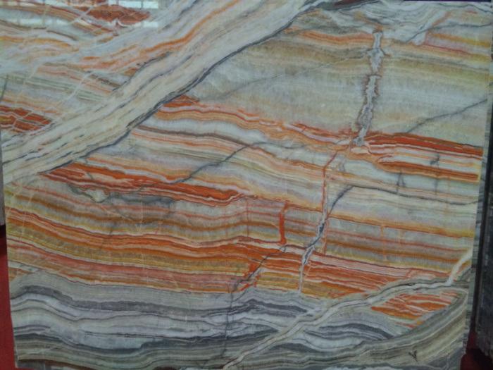 Rainbow Onyx Marble : China on sale onyx slab rainbow wall tile