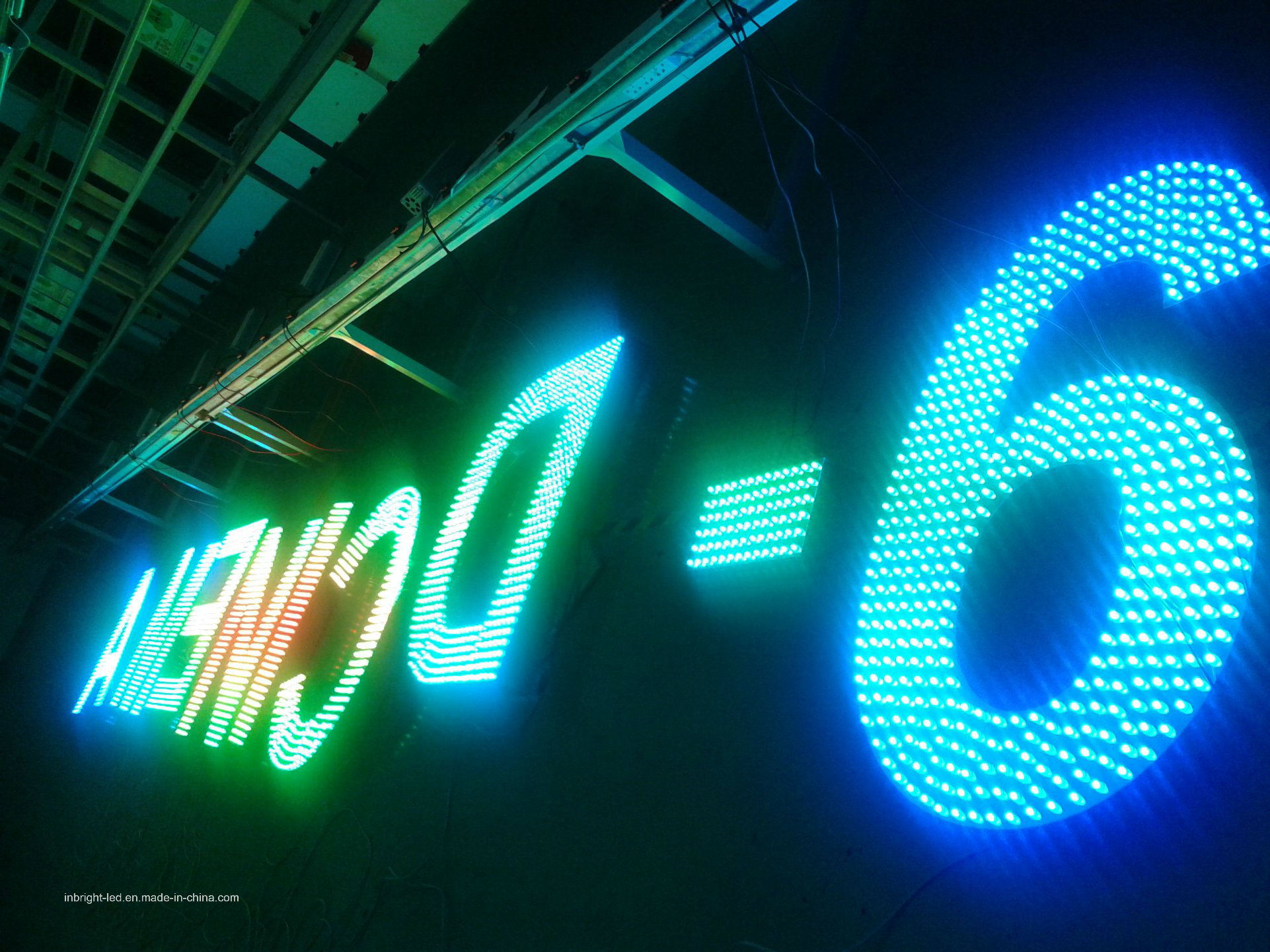Customize Metal Face Lighted RGB LED Channel Letter for Outdoor Advertising Sign