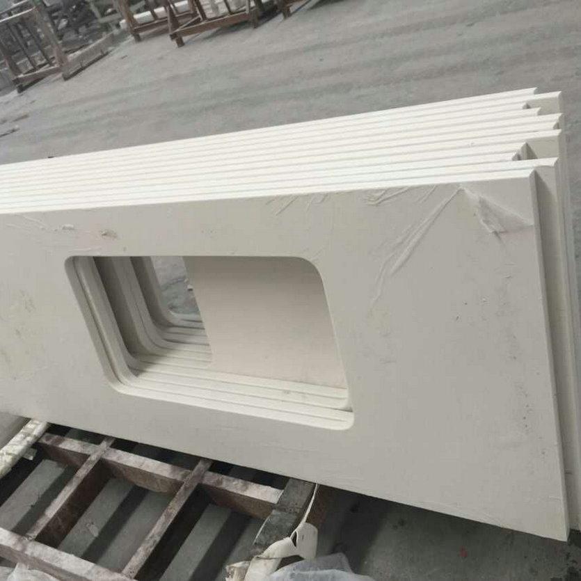 Pure White Quartz Stone Countertop Slabs