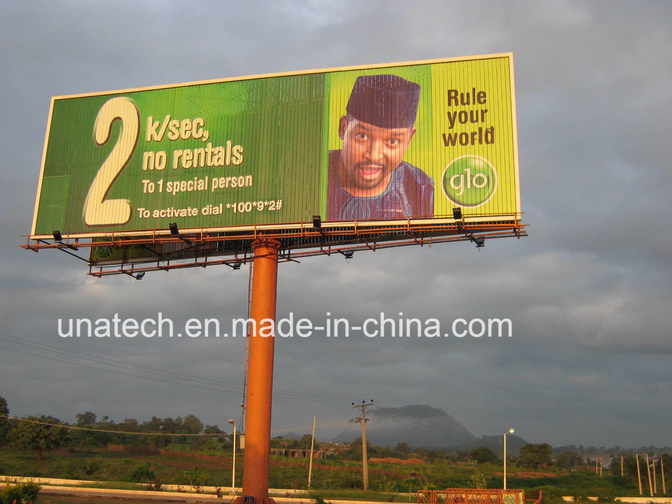 Outdoor Pole Prisma Triple Tri-Vision Ads Media Billboard