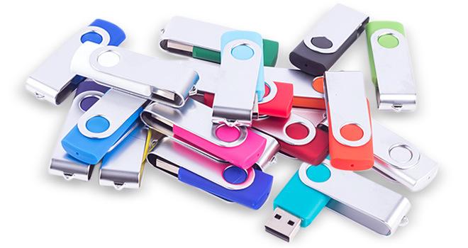 Metal Plastic Swivel USB Flash Drive Pen Drive