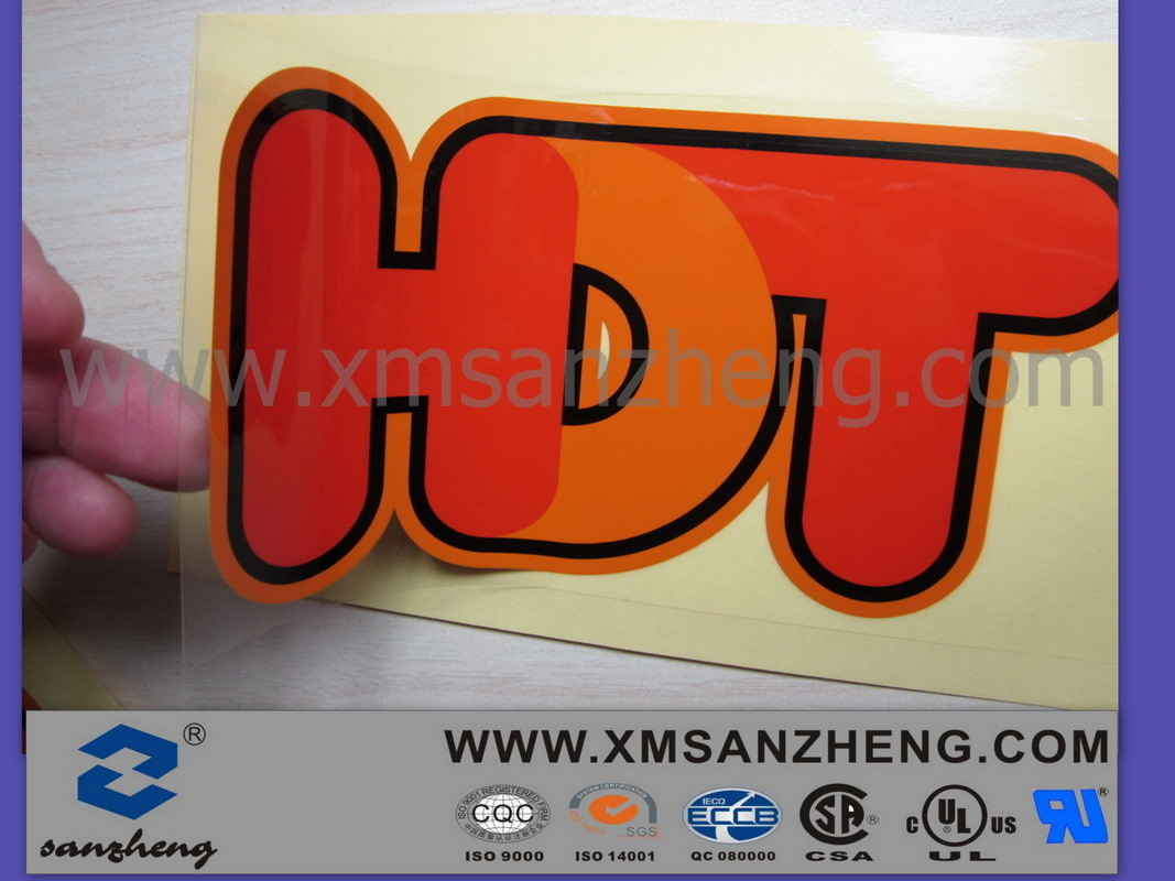 Customized Transparent Logo Sticker Printing (SZXY144)