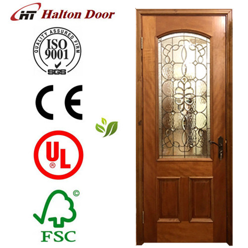 Classic Solid Wood Door/Red Rich Timber Door/Wooden Door/Entrance Wooden Door
