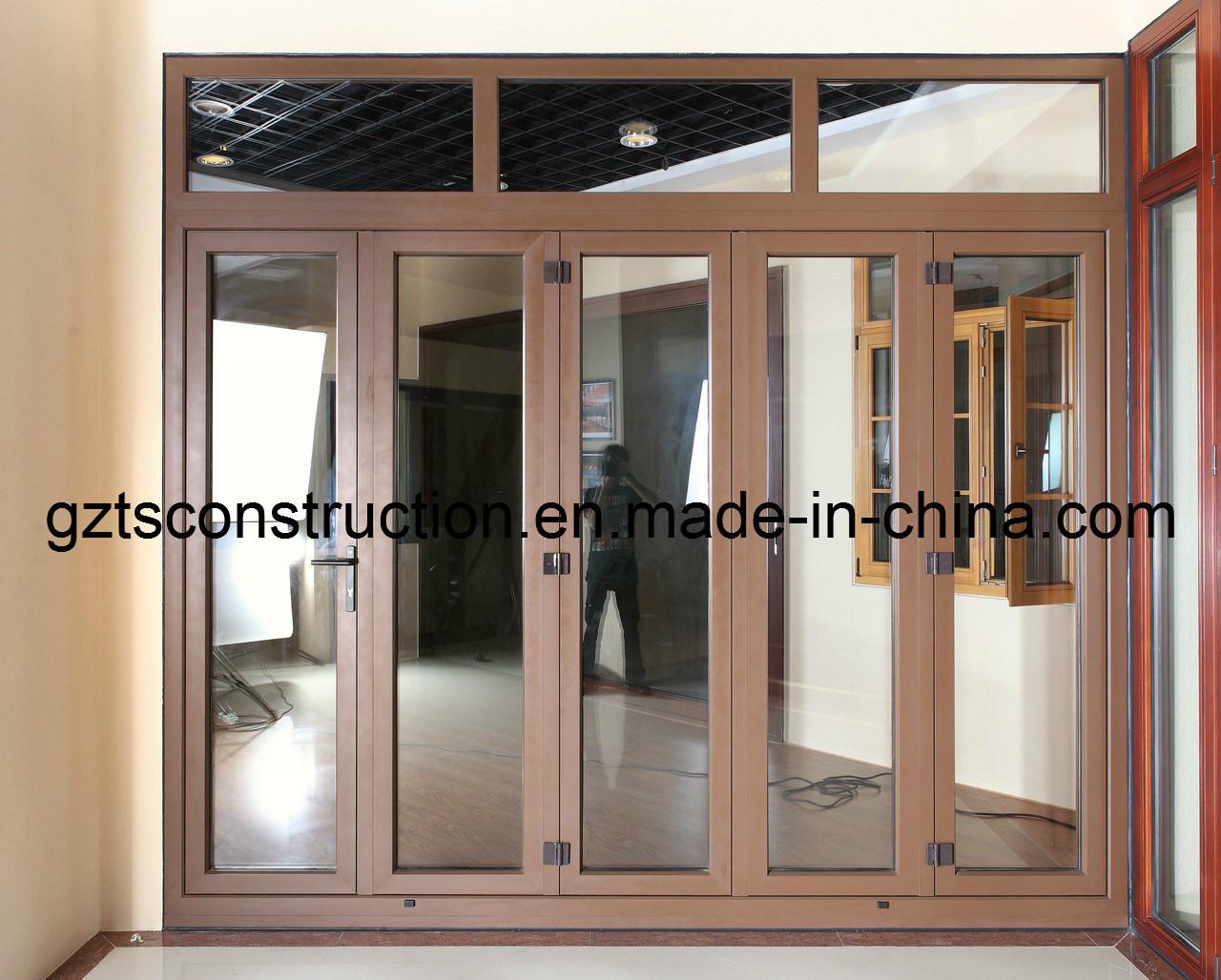 China High Quality Double Glazing Aluminium Bifold Door