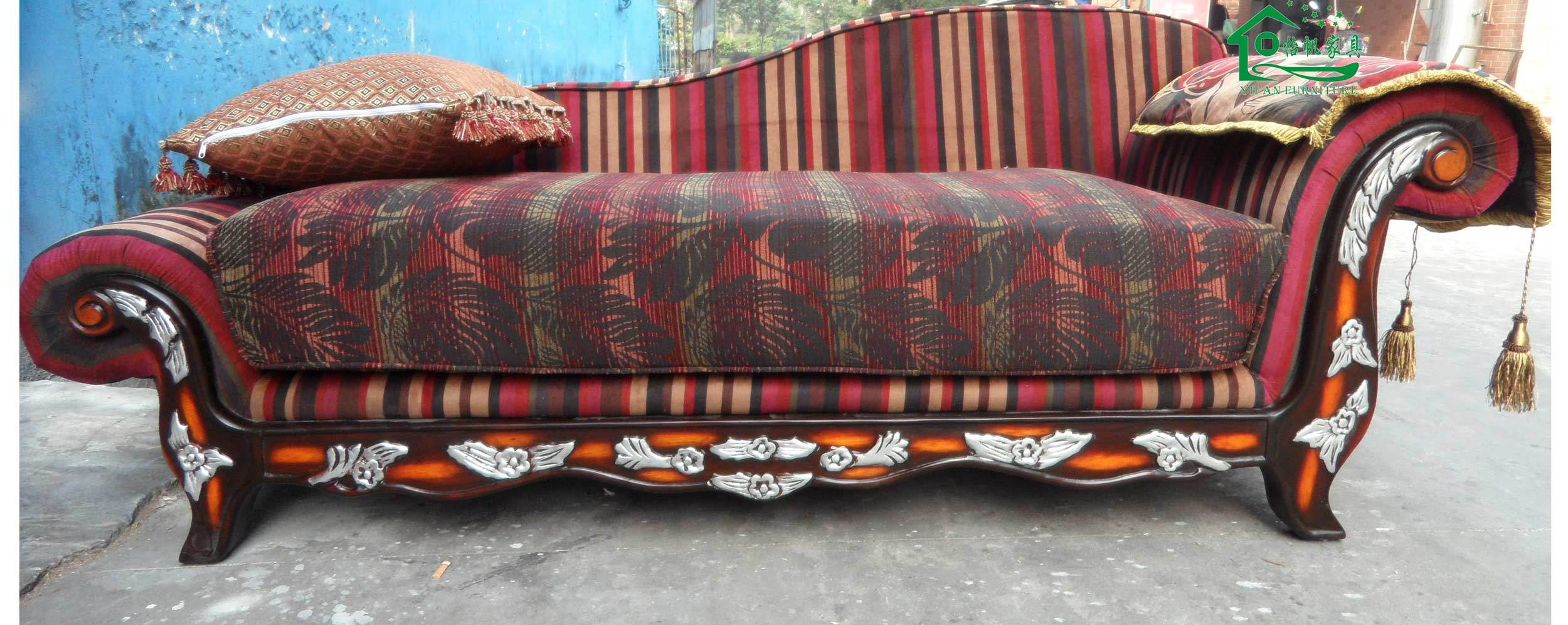 China wood chaise lounge sofa bed hotel sofa yf d29a for 2 chaise lounges sofa