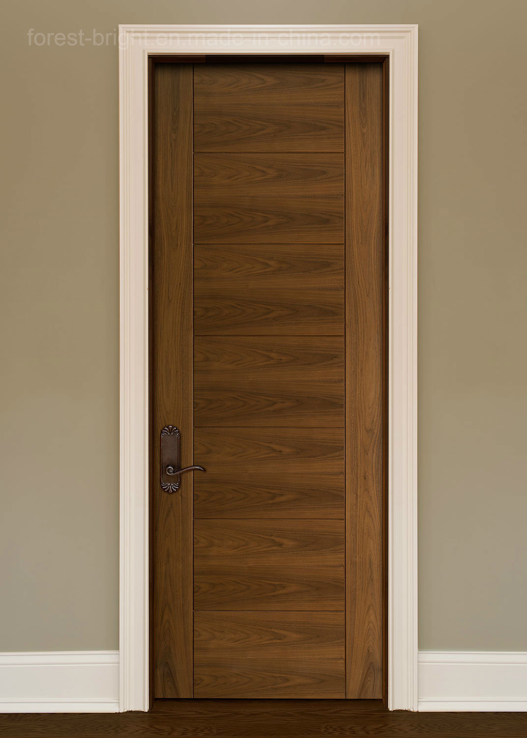 China interior veneered flush door contemporary modern for Solid flush door