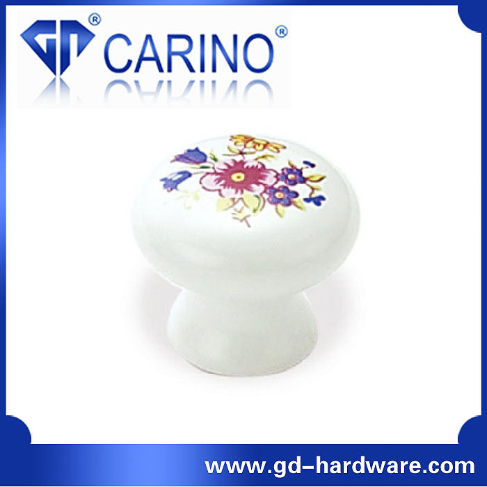 (GDC7100) New Arrival Bedroom Furniture Knob Shape Ceramic Handles and Knobs
