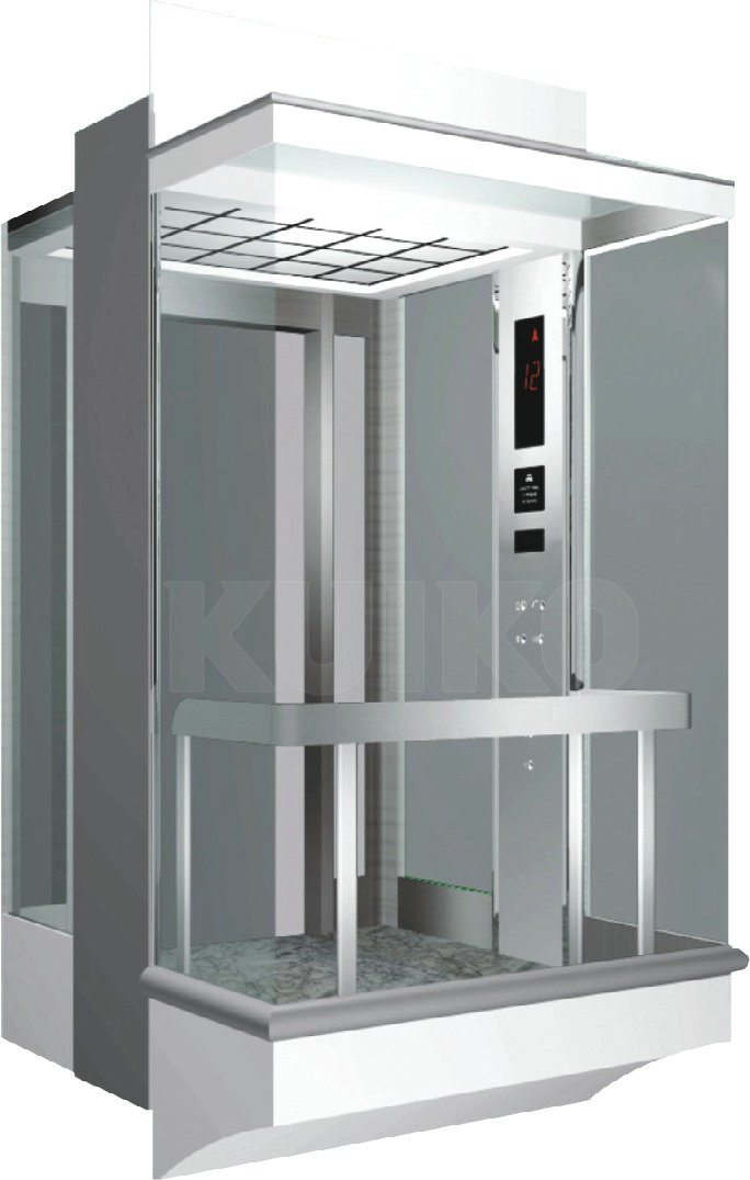 Hairline Stainless Steel Panoramic Elevator Kjx-G108