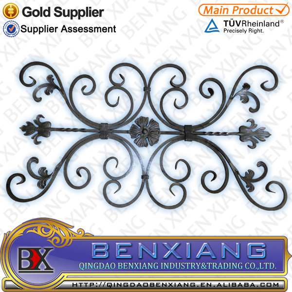 2016 New Fence Design Wrought Iron Flower Panel