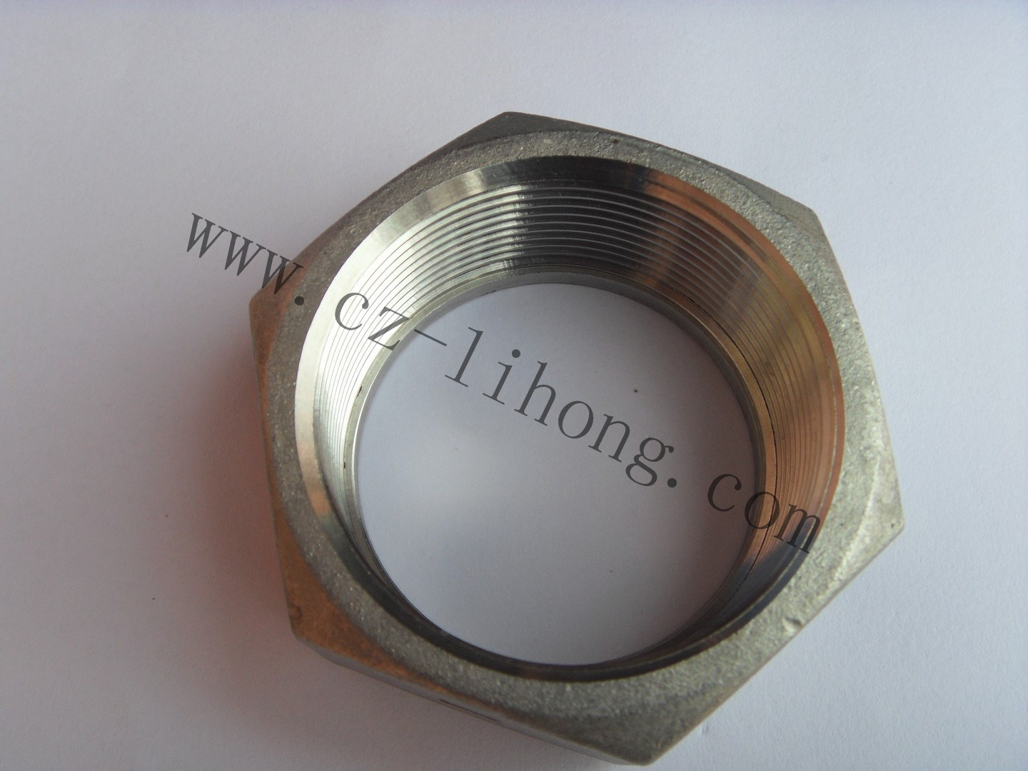 "3/8"" Stainless Steel 316 Pipe Fitting DIN2999 Hex Nut"