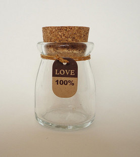 High Quality Glass Pudding Bottle/Glass Jar for Pudding/Mlik
