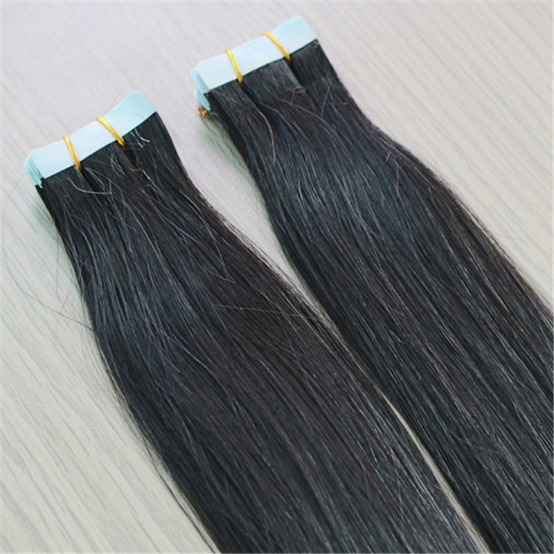 Dyeable Natural Color 100% Human Hair Tape Hair Extension