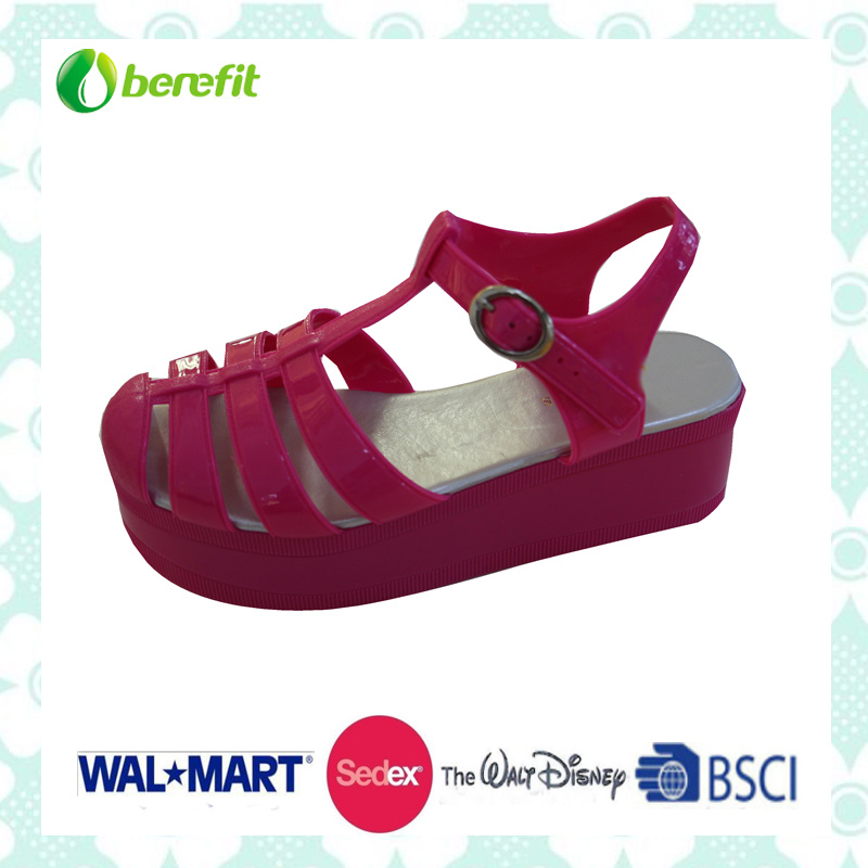 PVC Shoes with Wegde Sole, Various Color Are Available