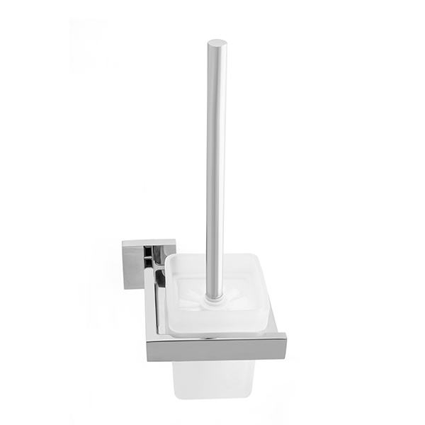 Wall-Mounted Stainless Steel Toilet Brush Holder in Plated Gold and Painted