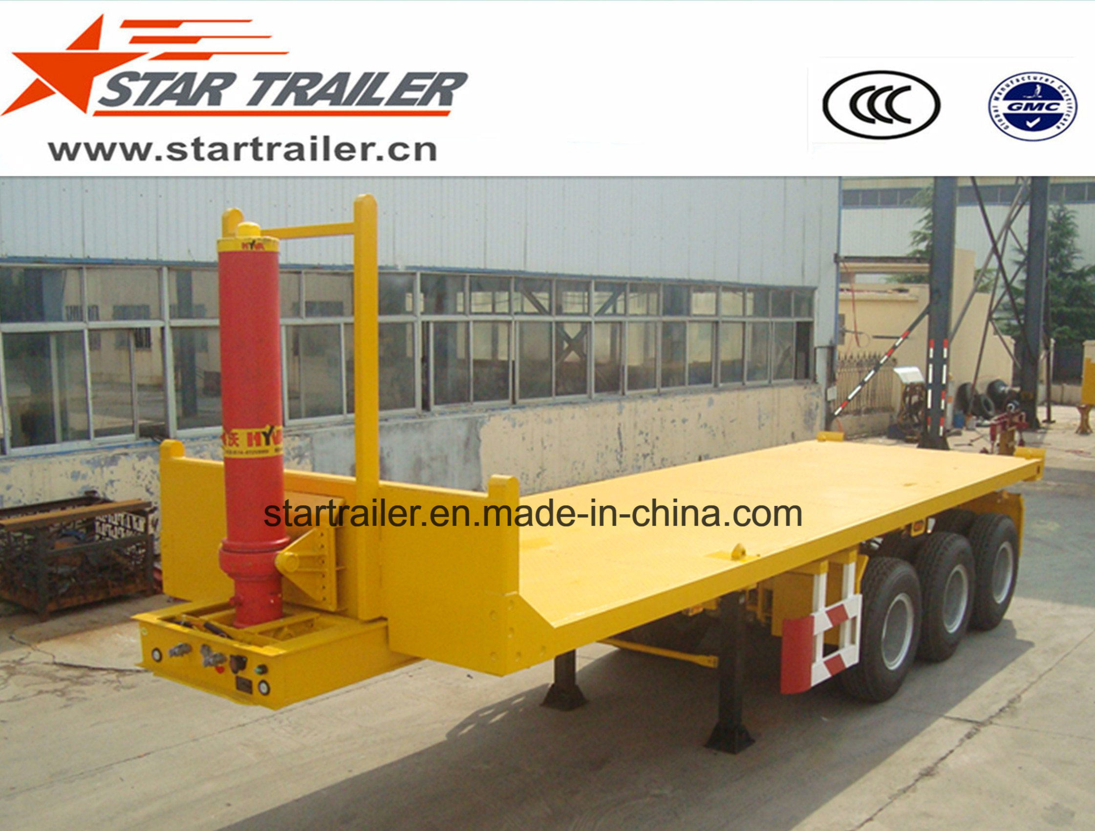 Flatbed Container Loading Tipper Trailer