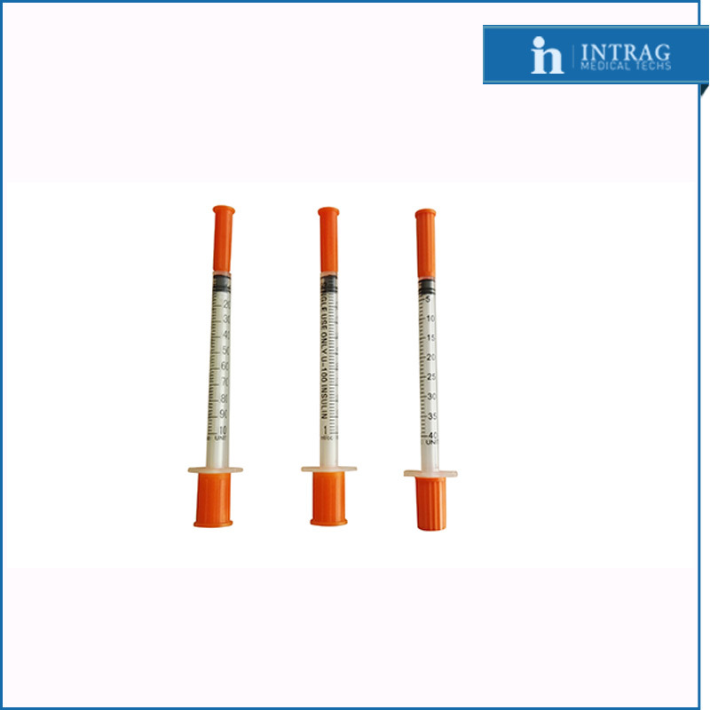 Non-Pyrogenic/Sterile Disposable Insulin Syringe with Fixed Needle (CE/ISO13485)