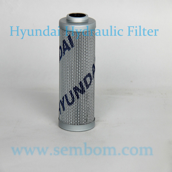 High Performance Hydraulic Oil Filter for Hyundai Excavator/Loader/Bulldozer
