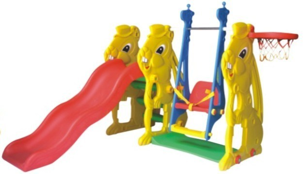 Plastic Toys Slide with Swing (QQ12065)