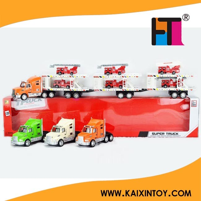 Hot Big Toy Friction Truck Toy Car with 6 Small Cars