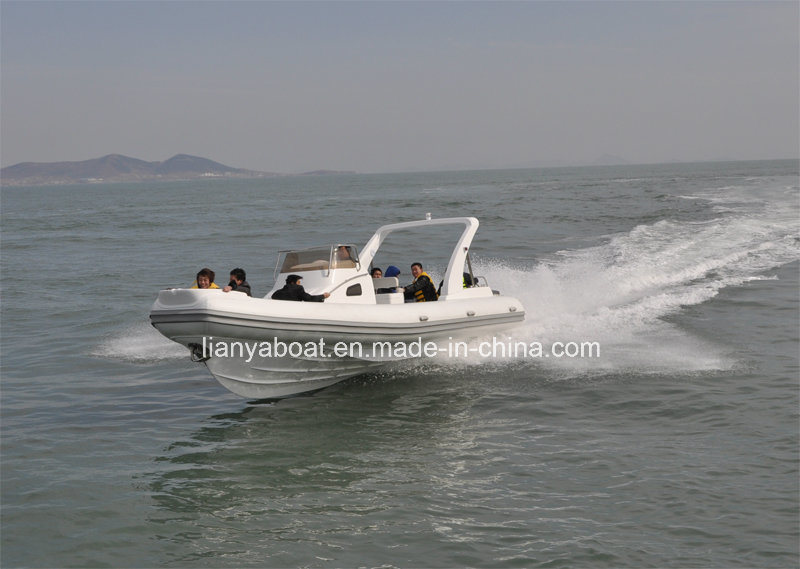 Liya27ft Rib Boats Cabin Rigid Inflatable Boat with Twin Engines