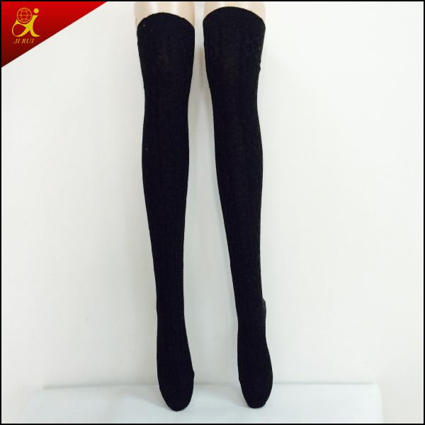 Winter Socks Long Black Stocking
