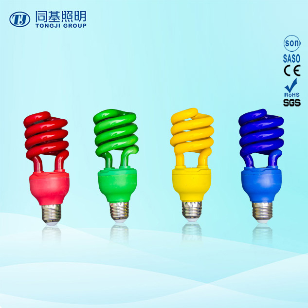 Energy Saving Lamp 40W Color Half Spiral Halogen/Mixed/Tri-Color E27/B22 220-240V