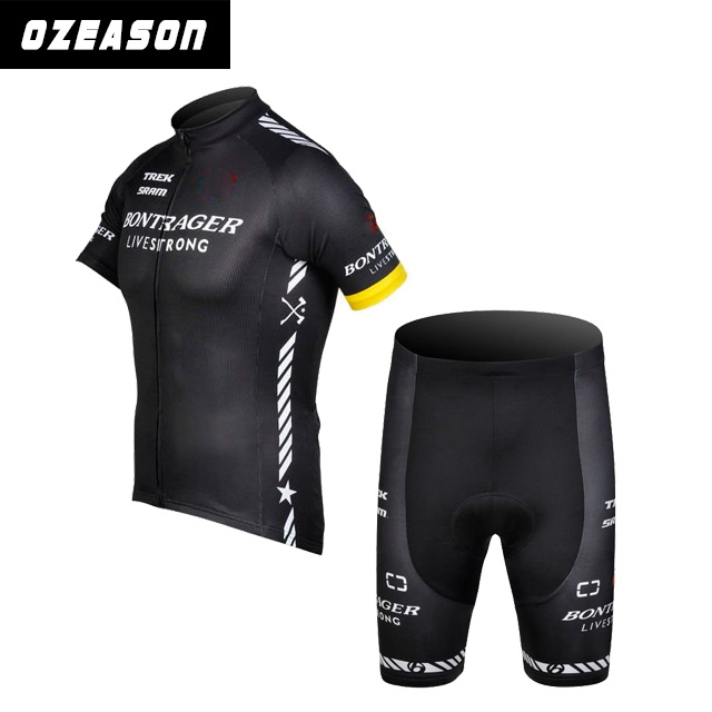 2015 China Sublimation Black Cycling Team Jersey