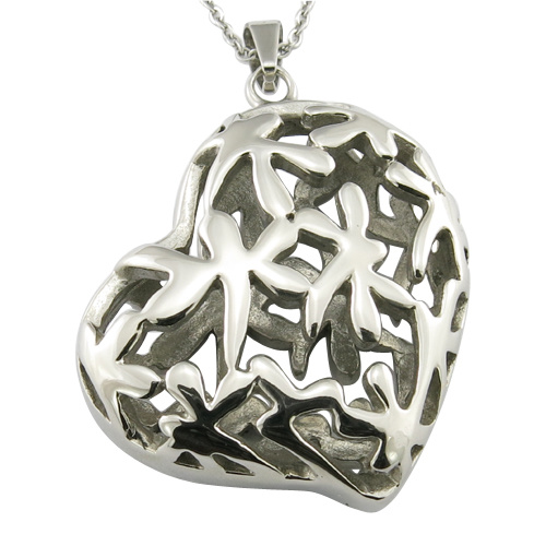 Sweet Heart Hollow Stainless Steel Metal Fashion Garment Accessories