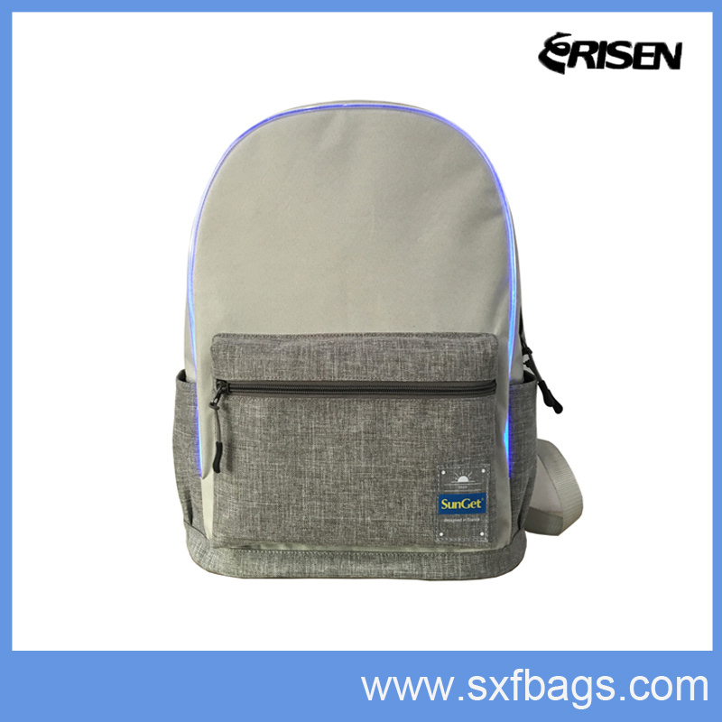 LED Fashion School Sports Backpack for Student