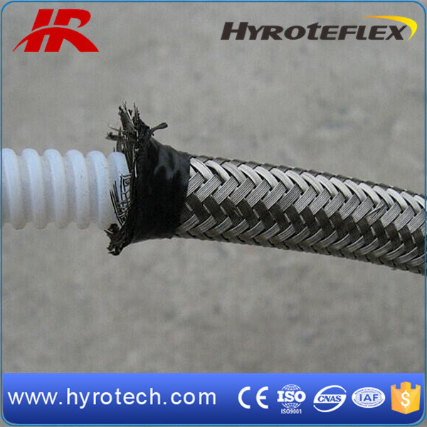Convoluted Teflon Hose/Stainless Steel Braided Hose SAE 100r14