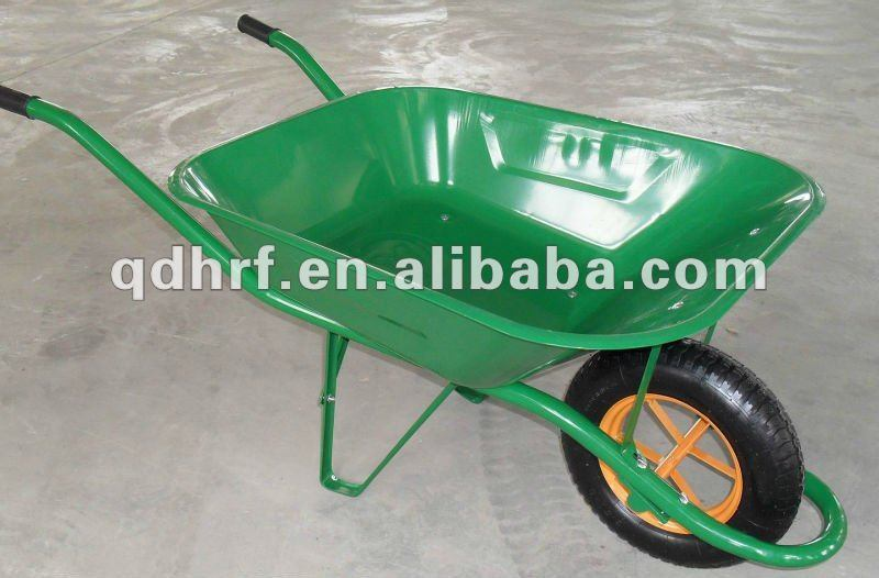 Green Construction Hand Trolley Wheel Yard Cart Wb6400