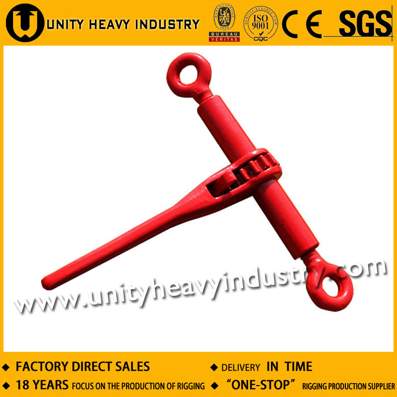 Ratchet Type Transportation Load Binder Without Links or Hooks