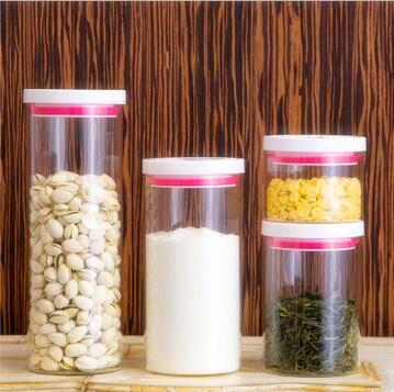 High Borosilicate Glass Food Storage Jar Sealed Lid Glass Jar