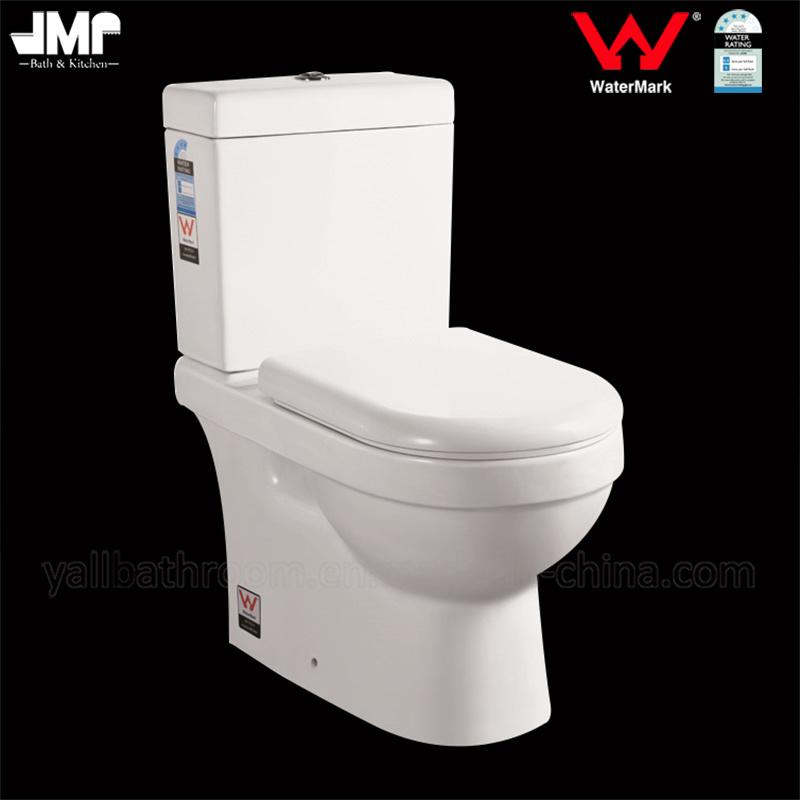 6002 Australian Standard Sanitary Ware Washdown Two Piece Watermark Ceramic Toilet