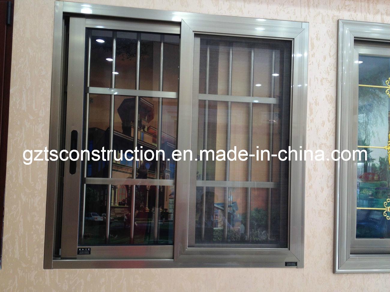 Aluminum Window Protection : Aluminum sliding window with security