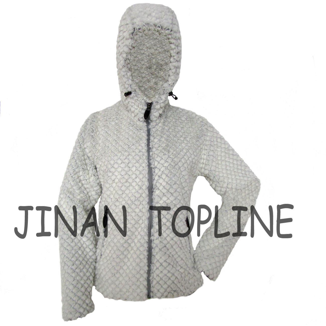 Women Fashion Long Sleeve Faux Fur Fake Fur Hoody Jacket