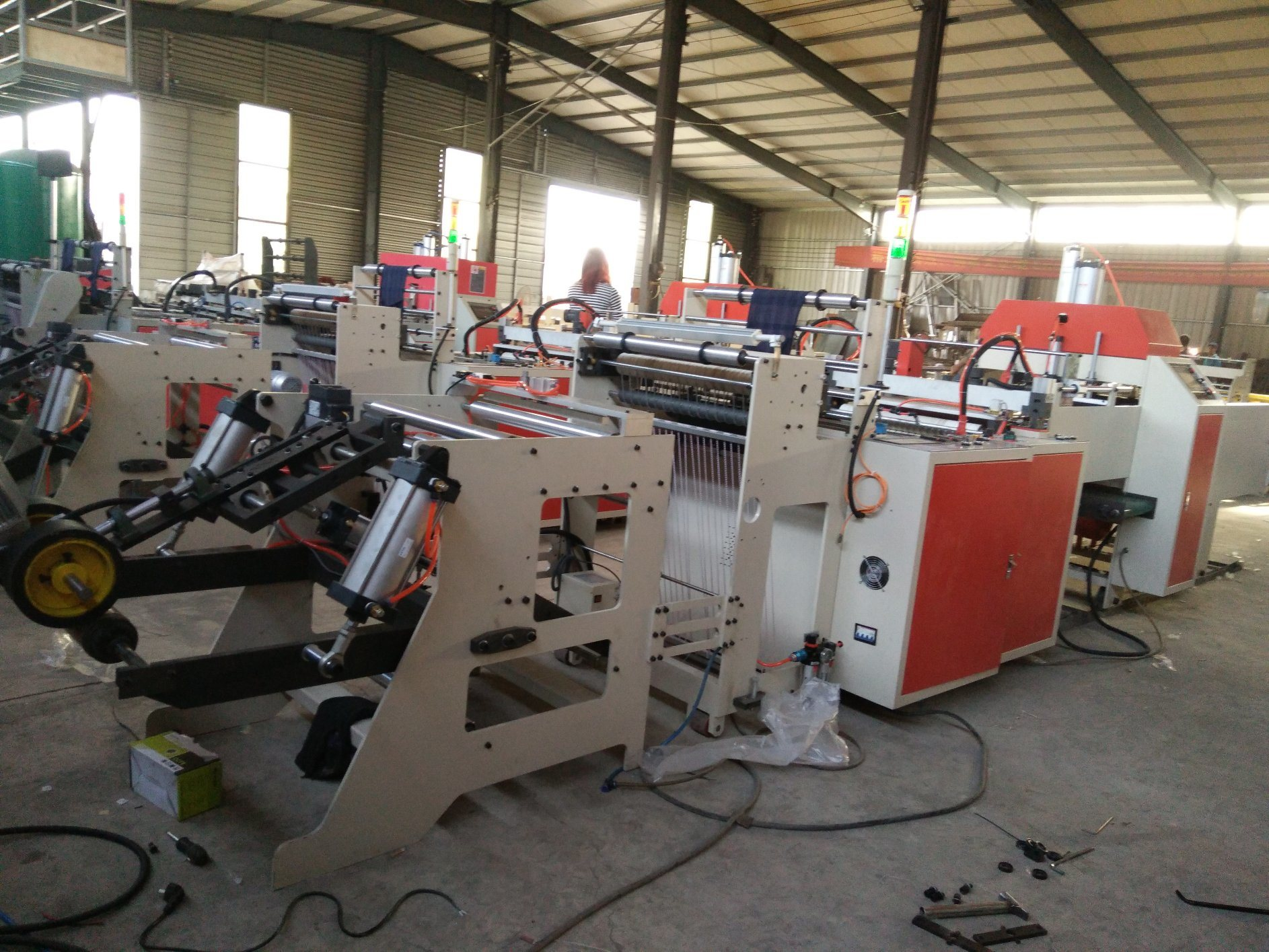 Full-Automatic Double-Line Hot-Sealing & Hot-Cutting Vest Bag Making Machine